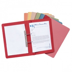 Guildhall Blue Transfer Spring Foolscap File (Pack of 50) 348-BLU