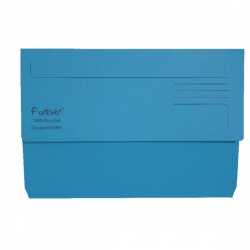 Guildhall Blue Bright Manilla Wallet Foolscap (Pack of 25) 211/5001