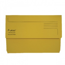 Guildhall Yellow Bright Manilla Wallet Foolscap (Pack of 25) 211/5003