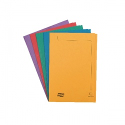 Europa 300micron Square Cut Folder Foolscap Assorted 4820