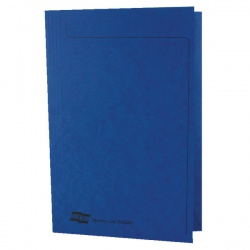 Europa 300micron Square Cut Folder Foolscap Dark Blue 4825