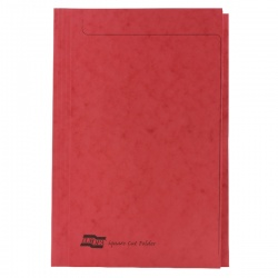 Europa 300micron Square Cut Folder Foolscap Red 4828