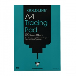 Goldline A4 Heavyweight Tracing Pad 112gsm 50 Sheets GPT3A4