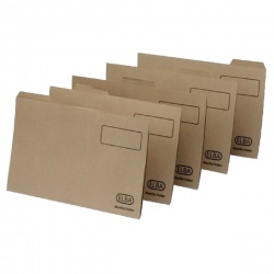 Elba Buff Mediumweight Tabbed Folder Foolscap (Pack of 100) 100090233