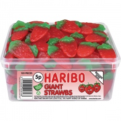 Haribo Giant Strawbs Drum 9547