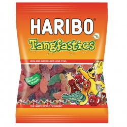Haribo Tangfastics 160g Bag (Pack of 12) 14573