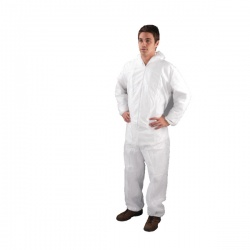 HPC Non-Woven Coverall Large White DC03