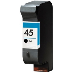 Remanufactured HP 51645AE (45) Black Ink Cartridge