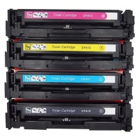 HP CF410X (CF411A,CF412A,CF413A) Remanufactured Toner Cartridge Set