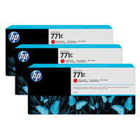 HP 771C Chromatic Red Designjet Ink Cartridge (Pack of 3) B6Y32A
