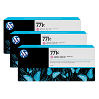 HP 771C Light Magenta Designjet Ink Cartridge (Pack of 3) B6Y35A