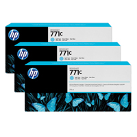 HP 771C Light Cyan Designjet Ink Cartridge (Pack of 3) B6Y36A