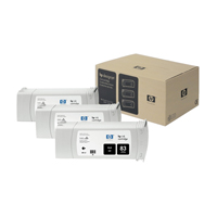 HP 83 Black DesignJet UV Ink Cartridges (Pack of 3) C5072A