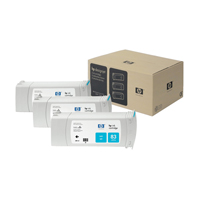 HP 83 Cyan DesignJet UV Ink Cartridges (Pack of 3) C5073A