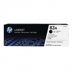 HP 83A Black LaserJet Toner Cartridge (Pack of 2) CF283AD