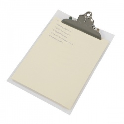 Rapesco Clear Frosted Transparent Heavy Duty Clipboard 0888