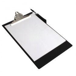 Rapesco Heavy Duty Clipboard A4/Foolscap Black CD1000B2