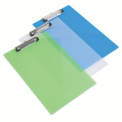 Rapesco Frosted Transparent Clipboard Assorted (Pack of 10) SHPPCBAS