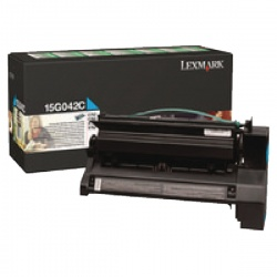 Lexmark Cyan Return Program Toner Cartridge High Yield 15G042C