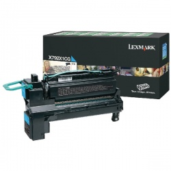 Lexmark Cyan Return Program Toner Cartridge Extra High Yield X792X1CG