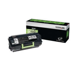 Lexmark 522H Black Toner Cartridge High Yield 52D2H00