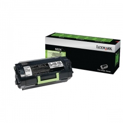 Lexmark 522X Black Toner Cartridge Extra High Yield 52D2X00
