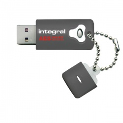 Integral Crypto Encrypted USB Flash Drive 32GB Grey INFD32GCRYPTO197