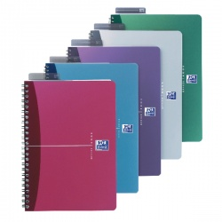 Oxford A4 Notebook Soft Polypropylene Cover Assorted Ruled Feint (Pack of 5) 100101918