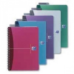 Oxford Notebook A5+ Soft Polypropylene Cover Ruled Feint Assorted (Pack of 5) 100101300