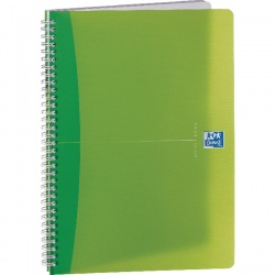 Oxford Office A5 Wirebound Notebook 180Pg Feint/Margin Translucent Assorted (Pack of 5) 100104780