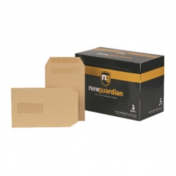 New Guardian C5 Envelopes Window 130gsm Manilla Self Seal (Pack of 250) A23013