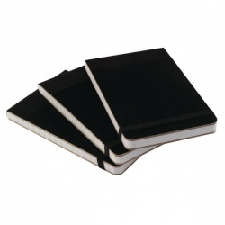 Cambridge Notebook 76 x 127mm Headbound Elasticated Feint Ruled 160 Pages Black 100080057