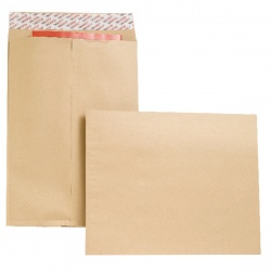 New Guardian Gusset Envelope 406 x 305 x 25mm 130gsm Manilla Peel and Seal (Pack of 100) B27326