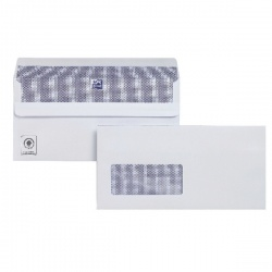 Plus Fabric DL Envelopes Window 110gsm Self Seal White (Pack of 250) C23370