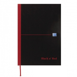 Black n' Red™ Casebound Matte Hardback A5 Notebook Recycled Ruled 192 Pages (Pack of 5) 100080430