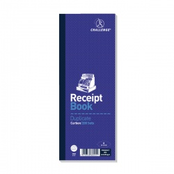 Challenge Receipt Book Duplicate Carbon 200 Sets 241x92mm (Pack of 10) 100080450