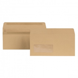 New Guardian DL Envelopes Window 80gsm Self Seal Manilla (Pack of 1000) E22211