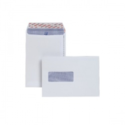 Plus Fabric C5 Envelopes Window 110gsm Peel and Seal White (Pack of 500) E24970