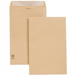 New Guardian Envelope 353 x 229mm 130gsm Peel and Seal Easy Open Manilla (Pack of 250) E27303