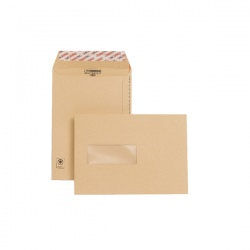 New Guardian C5 Envelopes Window 130gsm Manilla Peel and Seal (Pack of 250) F26639