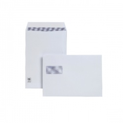 Plus Fabric C4 Envelopes Window 120gsm Peel and Seal White (Pack of 250) F28749