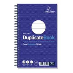 Challenge Duplicate Book Ruled Carbonless 50 Sets 210x130mm (Pack of 5) 100080469