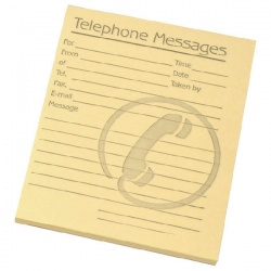 Challenge Tinted Telephone Message Pad 4x5 Inches Yellow 100080477