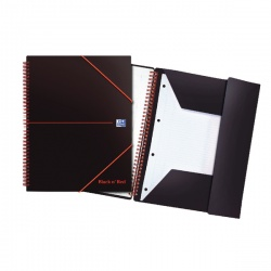 Black n' Red™ Meeting Book A4 Wirebound Polypropylene Cover 160 Pages (Pack of 5) 100104323