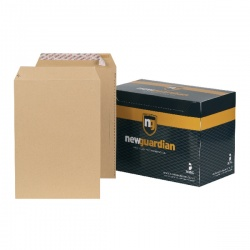 New Guardian C4 Envelopes 130gsm Peel and Seal Manilla (Pack of 250) J26339