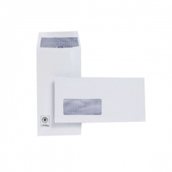 Plus Fabric DL Envelopes Window 110gsm Self Seal Pocket White (Pack of 500) J26670