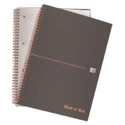 Black n' Red™ A5 Wirebound Matte Hardback Notebook 140 Pages Smart Ruled (Pack of 5) 846354904