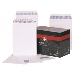 Plus Fabric Envelope 120gsm Peel and Seal C4 White (Pack of 250) K26739