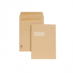 New Guardian C4 Envelopes Window 130gsm Manilla Self Seal (Pack of 250) M27503