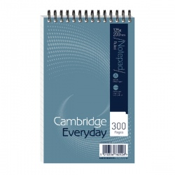 Cambridge Shorthand Notebook 125 x 200mm Spiral Bound 300 Pages Feint Ruled 846200078